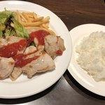 TAPEO - 本日の豚ステーキのランチ@1,080円