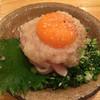 MECCA - 料理写真:鶏塩ユッケ¥550(税別)