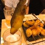 ヨネヤ - 鮎の三段活用その②  麦酒を得た魚