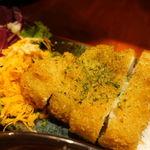 おばんざい鉢屋 - 日替り(カジキフライと甘酢ショウガのスタミナ冷奴) 850円