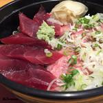 魚菜 - 本鮪二色丼