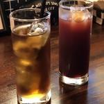 イタリア食堂SORA - カシスオレンジと烏龍茶