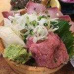 Takamarusengyoten - イナダとネギトロ丼