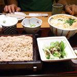 稲田屋 - ミニカツ丼と半そばセット