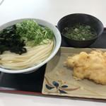 竹清 - ひやかけ2玉+鶏天 合計で460円(税込)