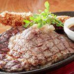 ステーキ食堂BECO - リブロースステーキ&エビフライ