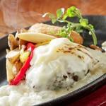 ステーキ食堂BECO - レディースチーズチーズバーグ