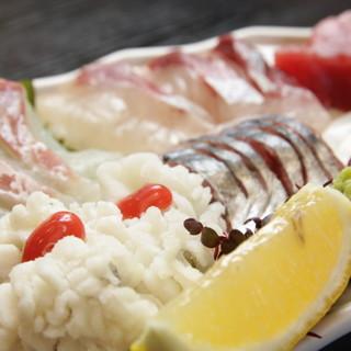 ☆★四季に合わせた新鮮な魚介類★☆