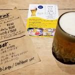 マールカフェ - 生ビール小¥400