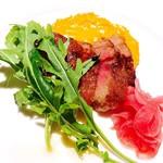 マークステーブル - 『栃木産A4黒毛和牛サーロインステーキ。ワイルドアルゴラと12年熟成バルサミコ』