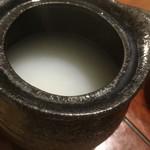 三品 - 蕎麦湯です