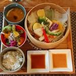 89925955 - 三浦野菜と湘南豚のせいろ蒸し御膳