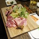 イタリア大衆食堂 堂島グラッチェ - 生ハム盛り合わせ