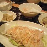 麒麟楼 - 料理写真:蒸し鶏の定食 880円 (2011/08)