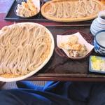 藤花庵 - 昼そば(天ぷら付き)大盛1050円