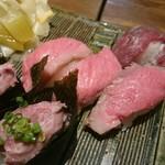 横浜 肉寿司 - 肉とろ三種盛り