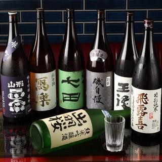 こだわりの地酒が40種!!