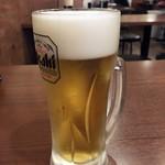 鳥道酒場 - 「生ビール」390円也。