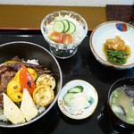 めしや和さん亭 - 料理写真:上州牛霜降りロースステーキ丼 1,480円