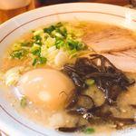 麺ダイニング 福 - ♦︎白 玉子入り 550円       あっさり!