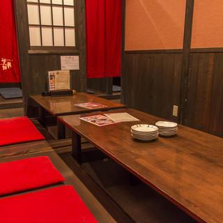 ☆全席個室で、食事も会話もゆったり楽しめる☆