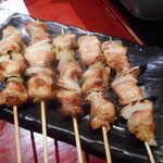 焼鳥 水炊き ふくの鳥 - 長門串焼き(もも)