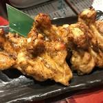 焼鳥 水炊き ふくの鳥 - 手羽元の黒胡椒焼き