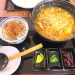 さくら - タンタンひもかわ&ミニヒレカツ丼
