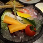 89960320 - 旬菜と炙り魚味噌 ¥680
