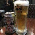 自家製麺 伊藤 - アサヒスーパードライ350ml350円