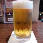 いきなりステーキ - グラスビール(270円外税)