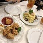 レストラン桂 - 鳥の唐揚げとポテトサラダ