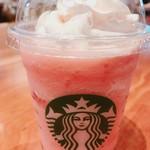 スターバックス コーヒー - ピーチ ピンク フルーツ フラペチーノ