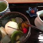 茶房 蔵や - クリームみつ豆