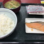 Nakau - 銀鮭朝定食(390円)