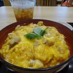 鶏三和 - 名古屋コーチン親子丼+鶏そばのセット