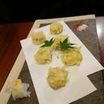 門前酒場山里 - 雉肉と春野菜の天ぷら(春野菜抜き)