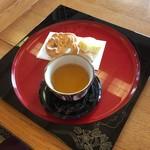 首里城 鎖之間 - お茶セット 310円