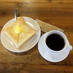 クロスコーヒー チョコレートアンドサンドウィッチズ - 料理写真:モーニングセット540円