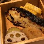 蔵人厨 ねのひ - 卯の花、玉子焼き、花蓮根、炭火焼魚ひらまさ