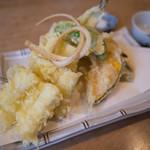 蕎麦きり さいとう - 穴子の天ぷら
