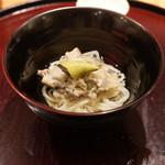 日本料理 太月 - あわび刷り下ろしそうめん