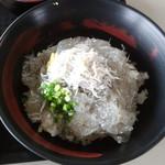 89991160 - 「ぷりぷり生しらす丼 富士山盛り」/生しらす&釜揚げしらすも少し乗ってます。