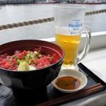 マグロ卸のマグロ丼の店 - 赤身丼1,200円+生麦酒500円