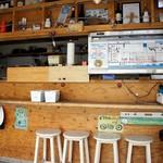 マグロ卸のマグロ丼の店 - カウンター横の券売機で