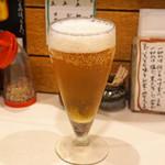 とん太 - 生ビール グラス