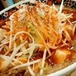 麺屋 忍 - 麺屋 忍@新潟 背脂マーボー麺・長ネギ アップ