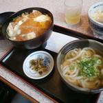 麺楽 - カツ丼+ミニうどん