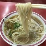 江洋軒 - もち麦麺、チャンポンのような太ストレート、もっちり麺(2018.7.29)
