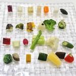 銀座 シェ・トモ - 山梨県産 無農薬野菜達 28~30 種の盛り合わせ